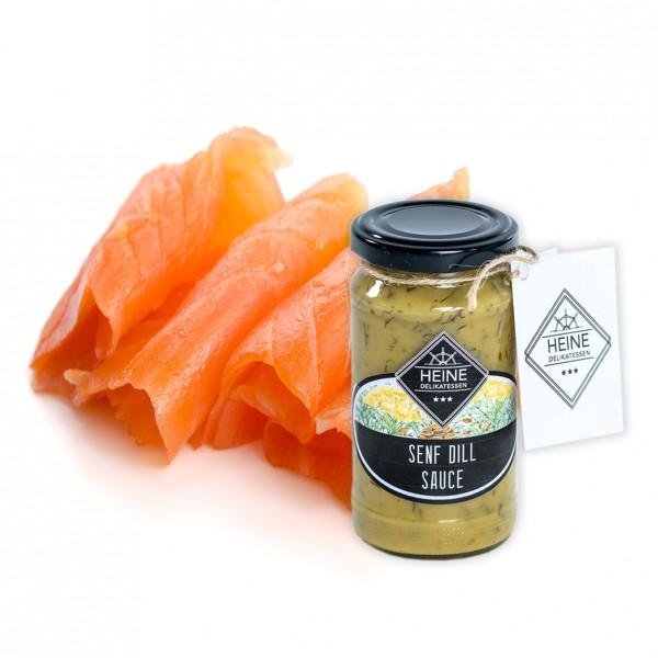 Holsteiner Premiumlachs, Natur & HEINE Senf-Dill Sauce